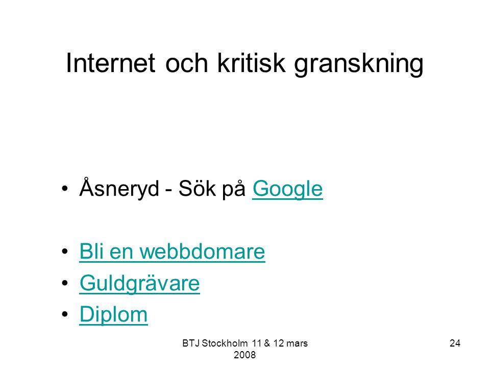 Internet och kritisk granskning