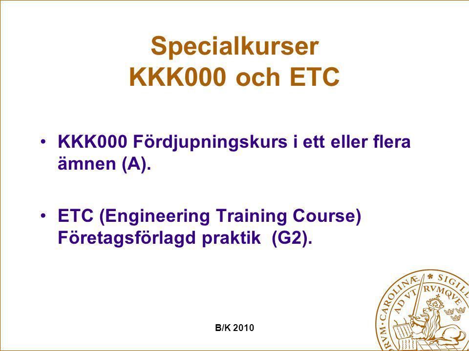 Specialkurser KKK000 och ETC