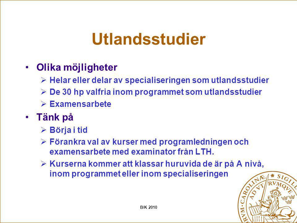 Utlandsstudier Olika möjligheter Tänk på