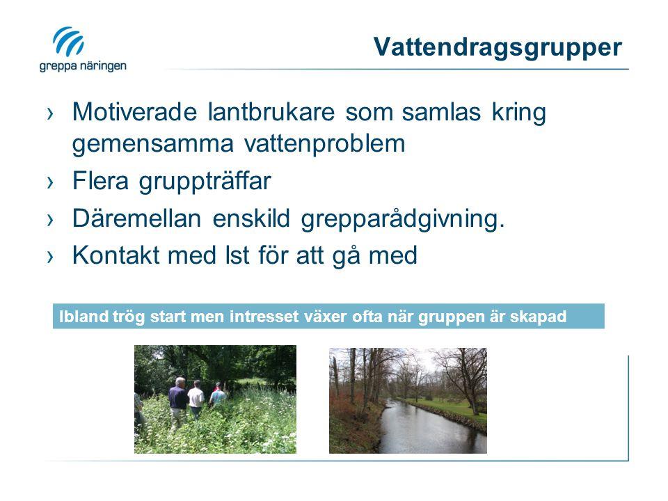 Motiverade lantbrukare som samlas kring gemensamma vattenproblem