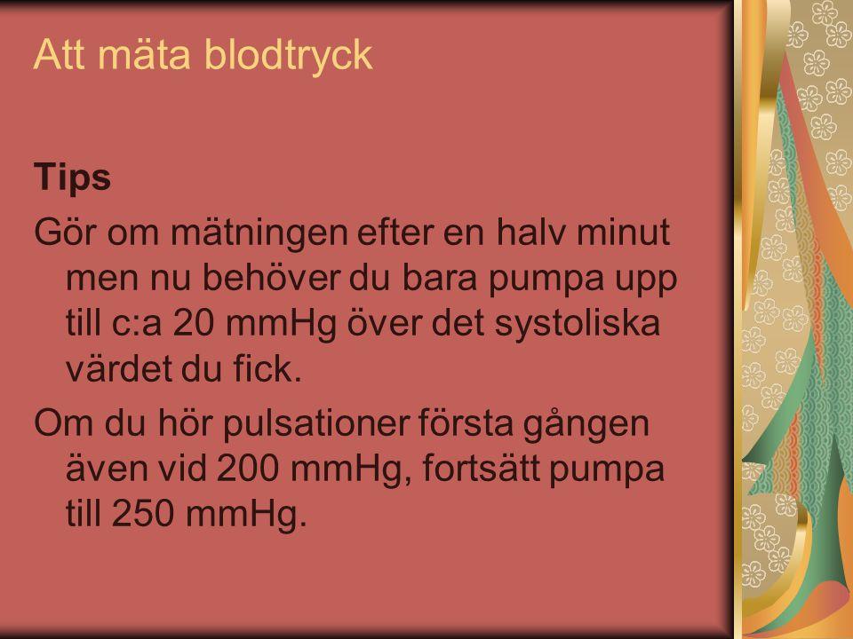 Att mäta blodtryck Tips