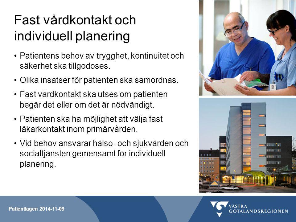 Fast vårdkontakt och individuell planering