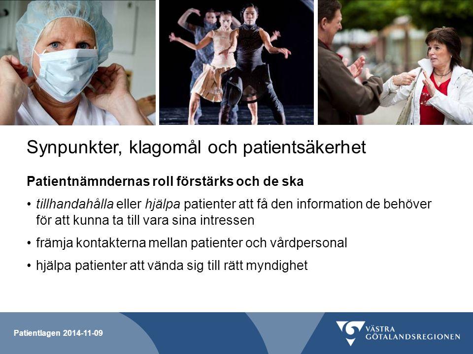 Synpunkter, klagomål och patientsäkerhet