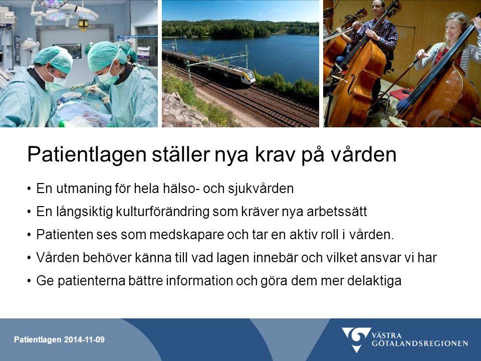 Patientlagen ställer nya krav på vården