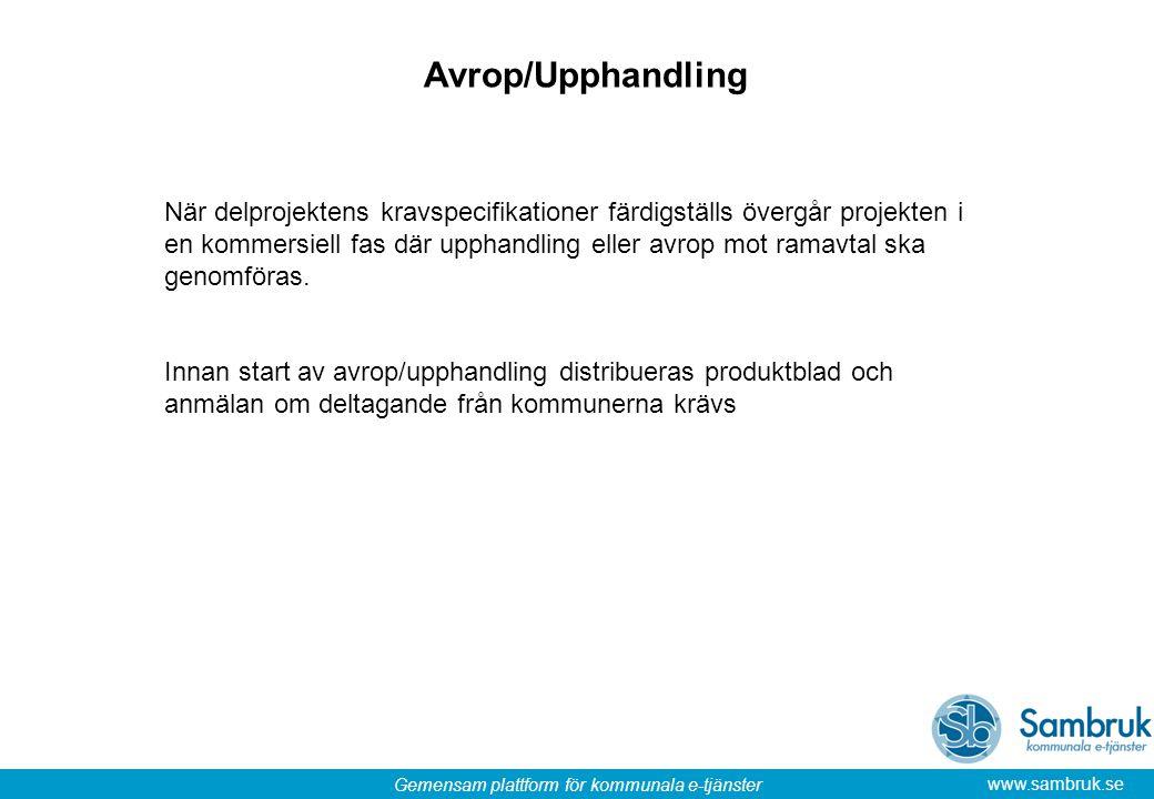 Avrop/Upphandling