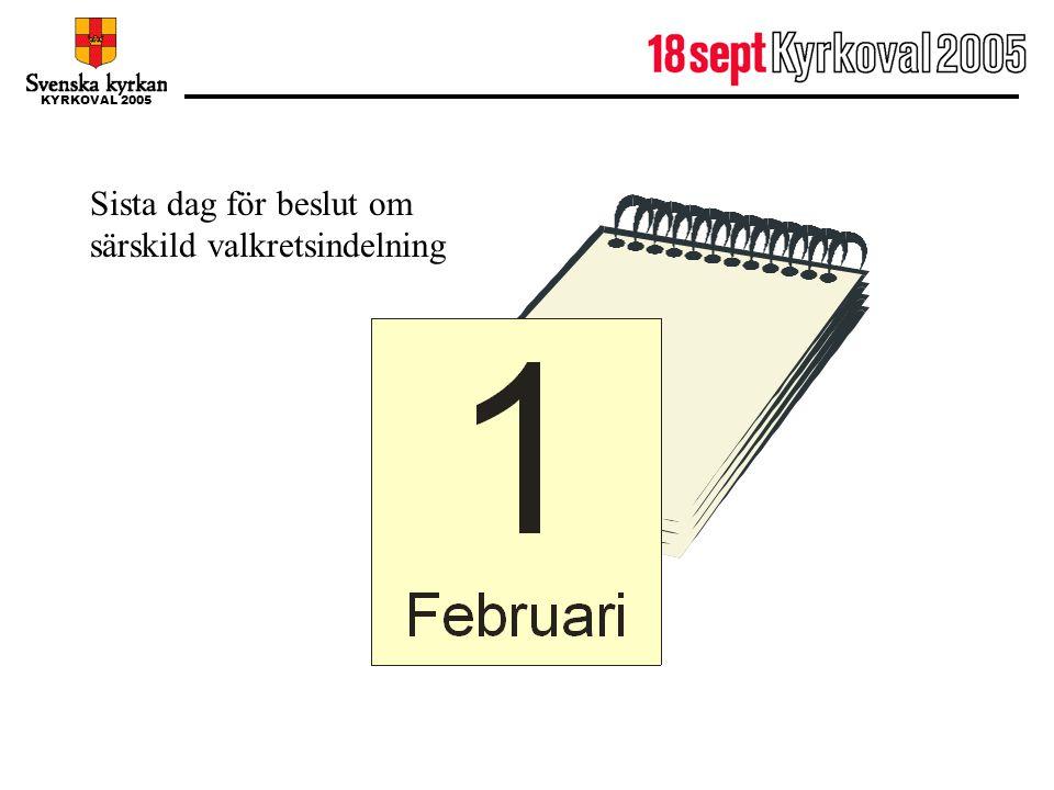1 februari Sista dag för beslut om särskild valkretsindelning