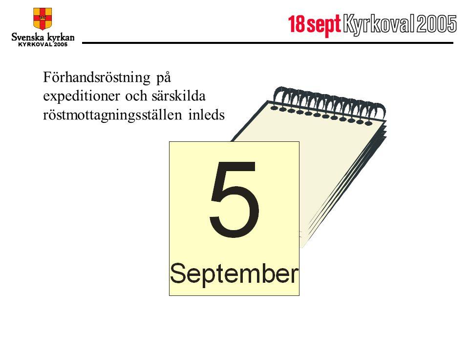 5 september Förhandsröstning på expeditioner och särskilda röstmottagningsställen inleds