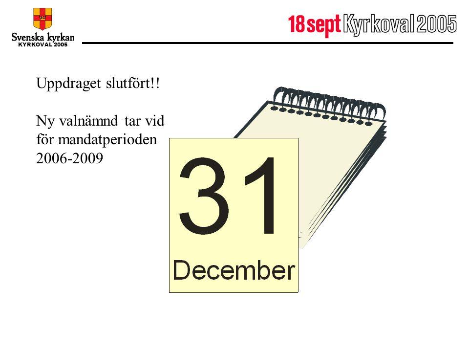 31 december Uppdraget slutfört!!