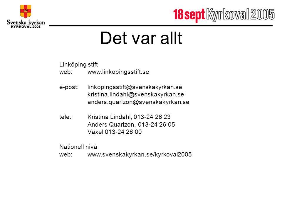 Det var allt Linköping stift