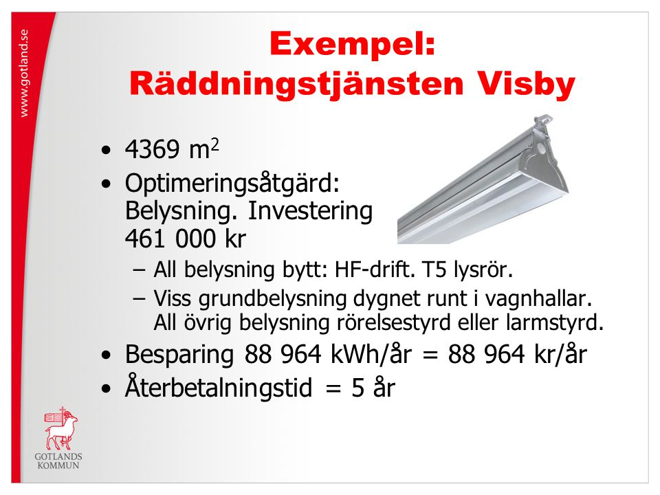 Exempel: Räddningstjänsten Visby