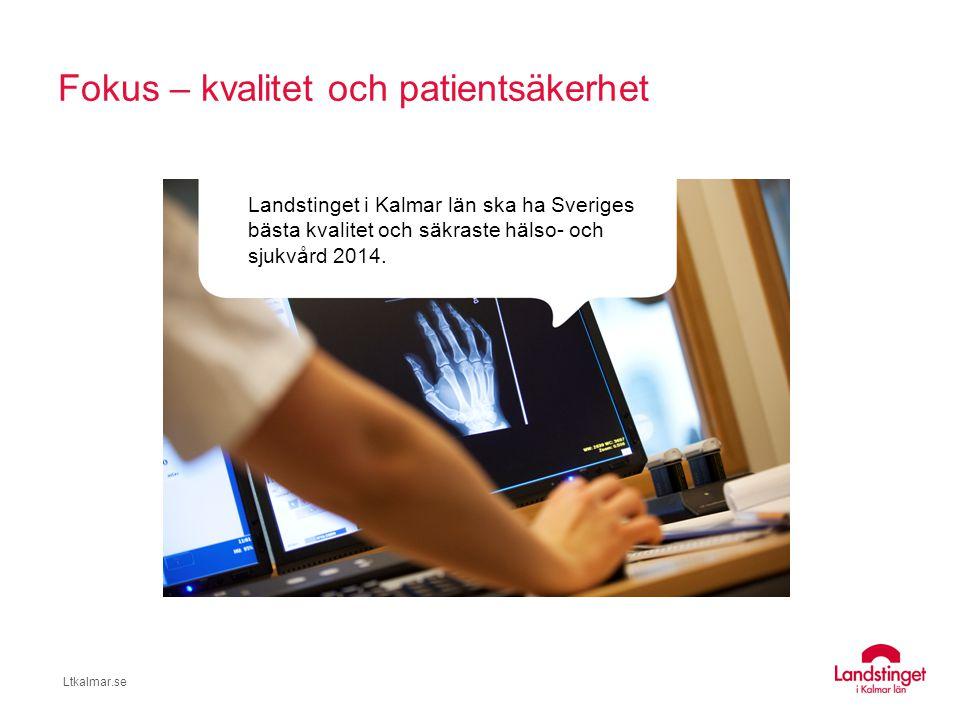 Fokus – kvalitet och patientsäkerhet