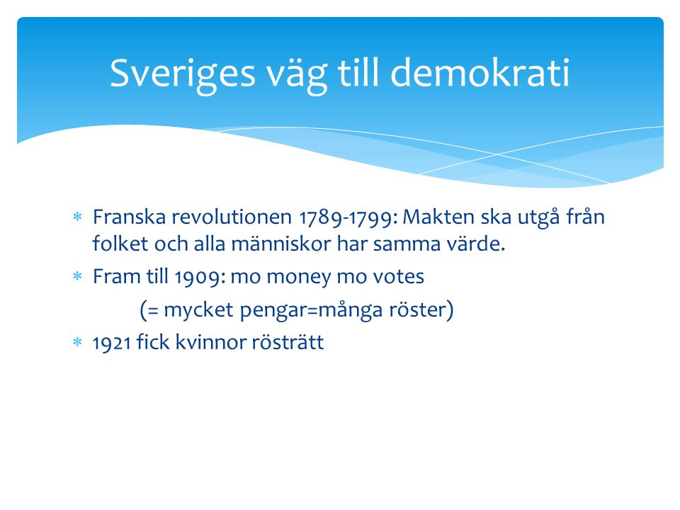 Sveriges väg till demokrati
