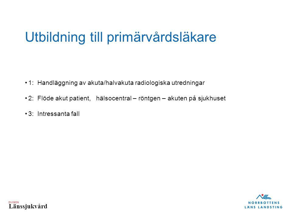 Utbildning till primärvårdsläkare