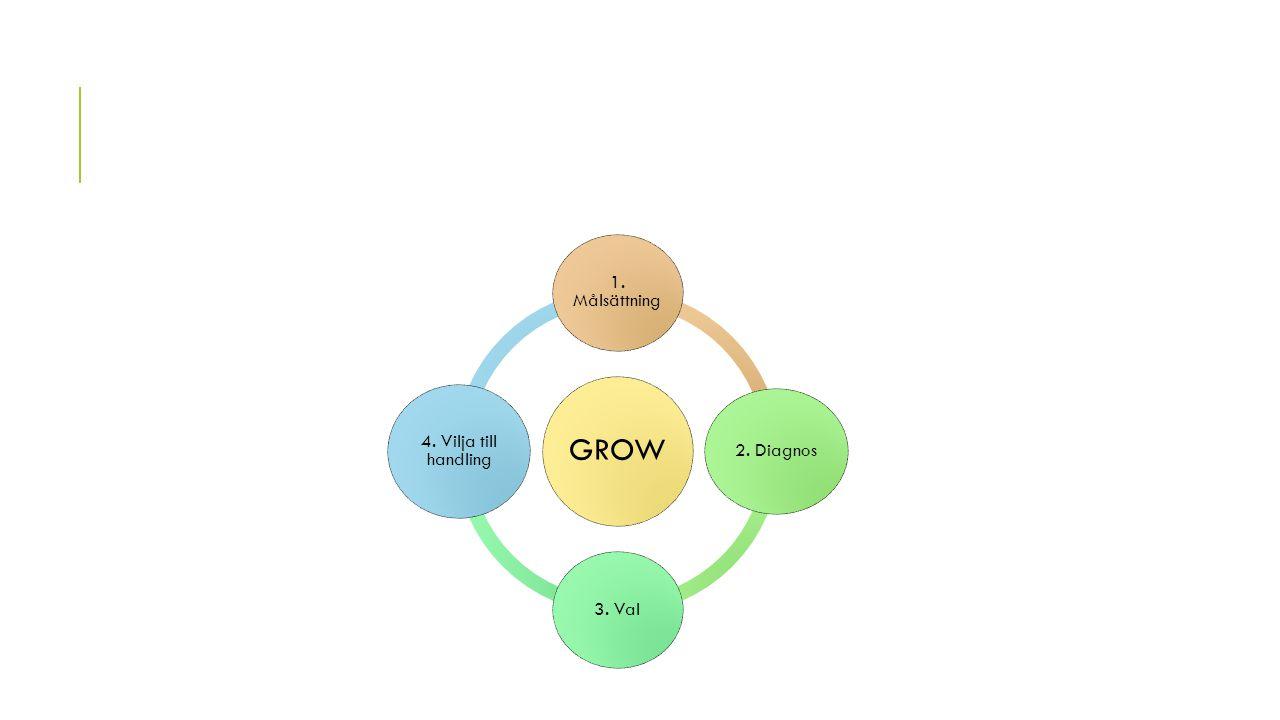 GROW 1. Målsättning 2. Diagnos 3. Val 4. Vilja till handling