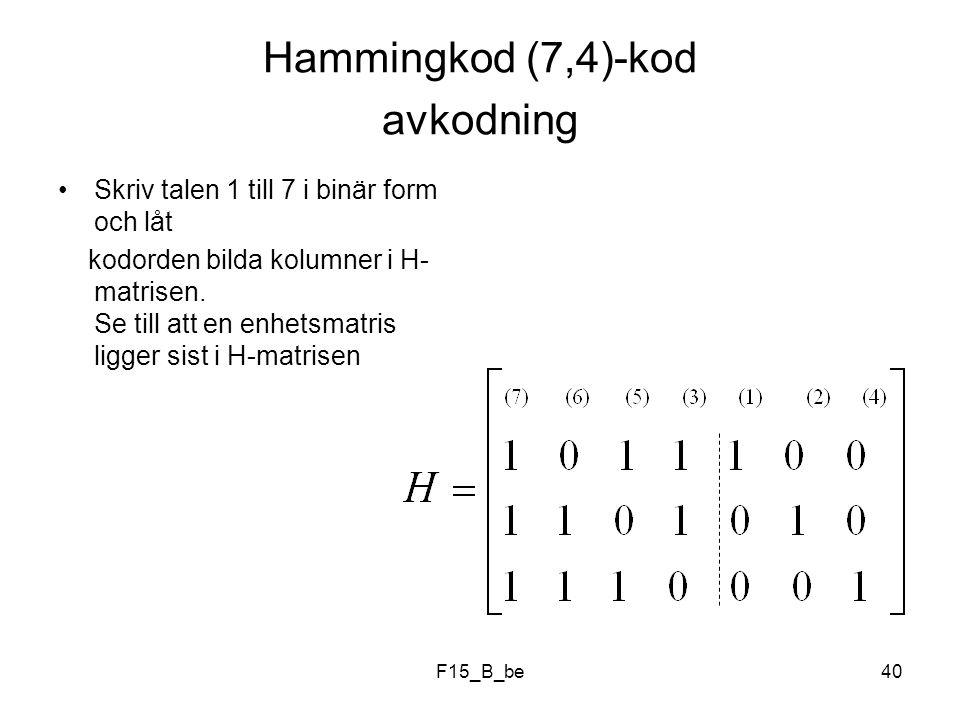 Hammingkod (7,4)-kod avkodning