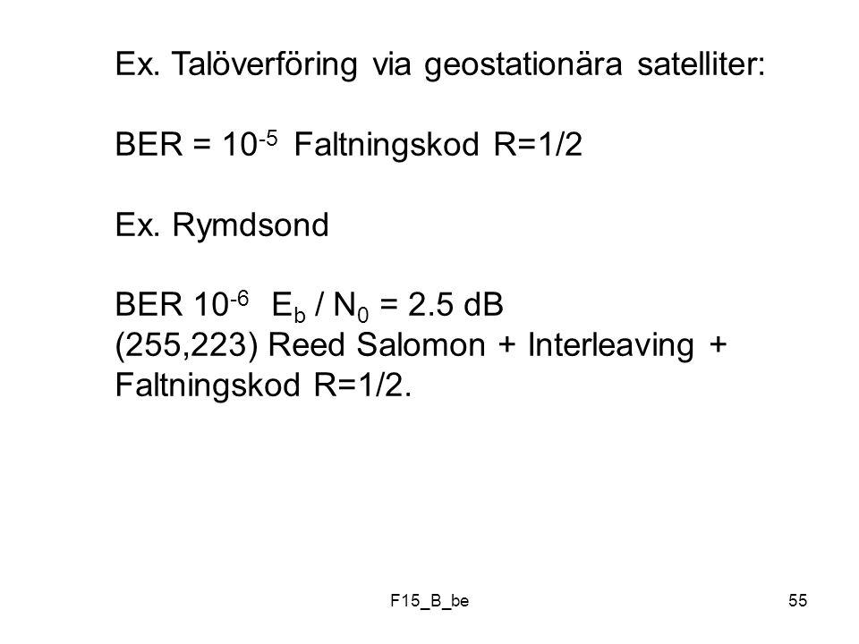 Ex. Talöverföring via geostationära satelliter: