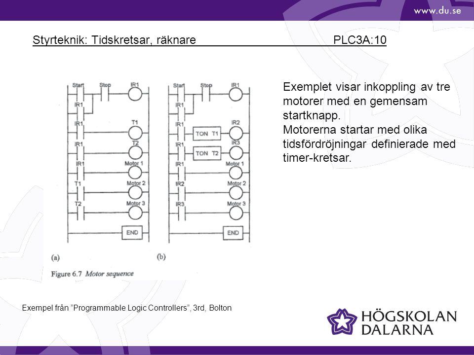 Styrteknik: Tidskretsar, räknare PLC3A:10