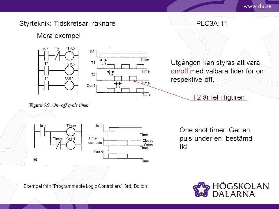Styrteknik: Tidskretsar, räknare PLC3A:11