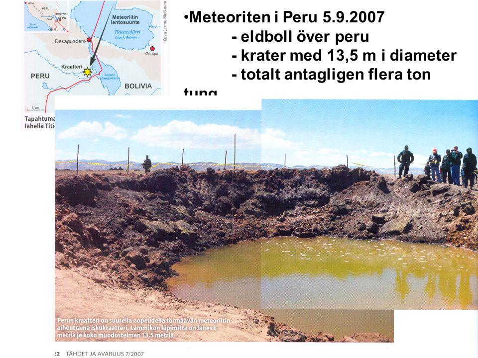 Meteoriten i Peru 5. 9. 2007. - eldboll över peru