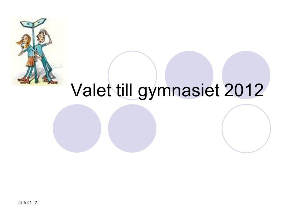 Valet till gymnasiet 2012 2017-04-08