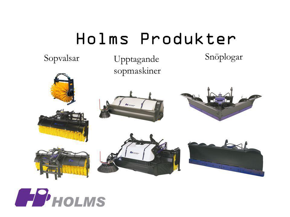 Holms Produkter Snöplogar Sopvalsar Upptagande sopmaskiner