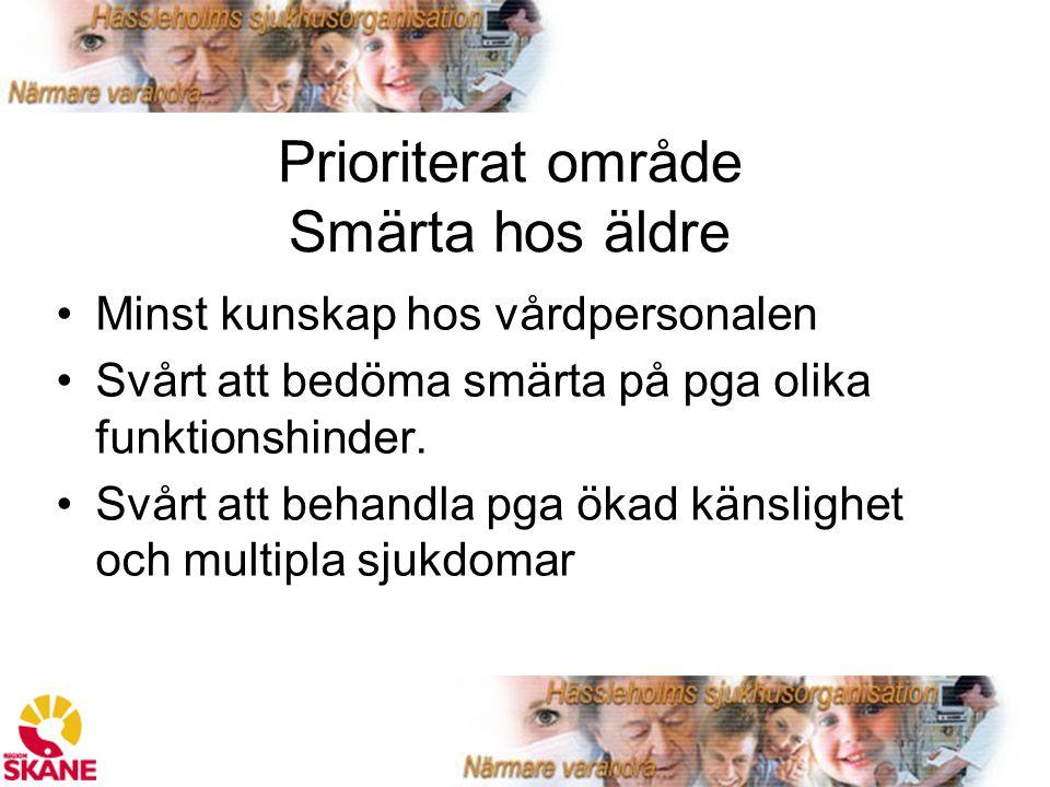Prioriterat område Smärta hos äldre