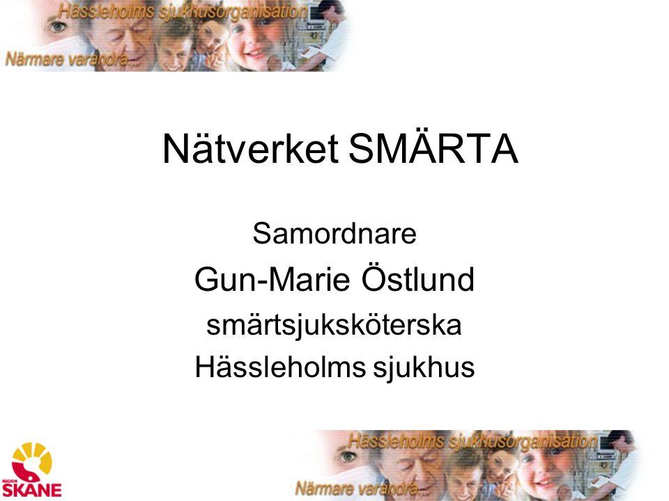 Samordnare Gun-Marie Östlund smärtsjuksköterska Hässleholms sjukhus