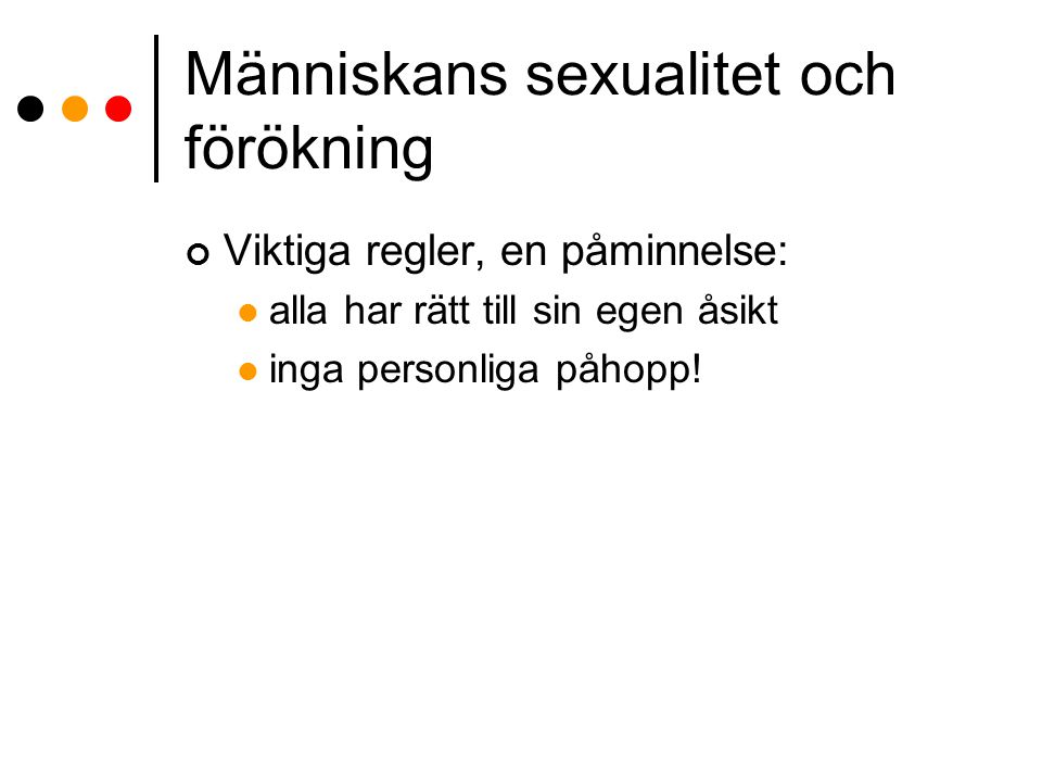 Människans sexualitet och förökning