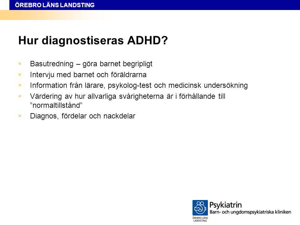 Hur diagnostiseras ADHD