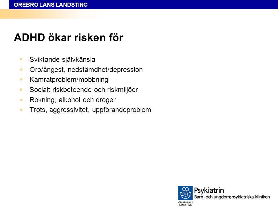 ADHD ökar risken för Sviktande självkänsla