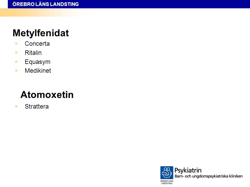 Concerta Ritalin Equasym Medikinet Atomoxetin Strattera Metylfenidat