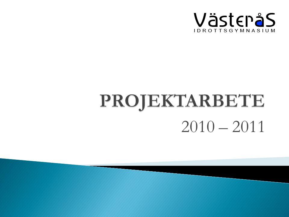 PROJEKTARBETE 2010 – 2011
