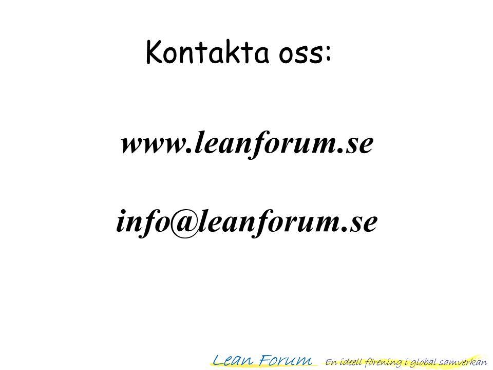 www.leanforum.se info@leanforum.se