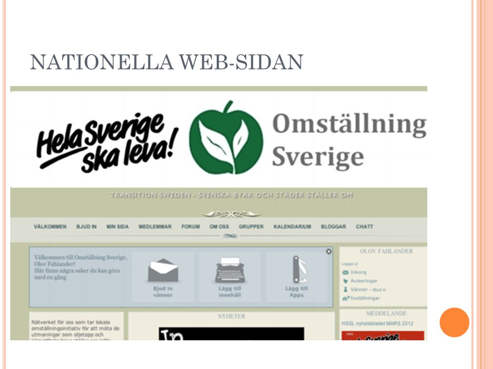 NATIONELLA WEB-SIDAN