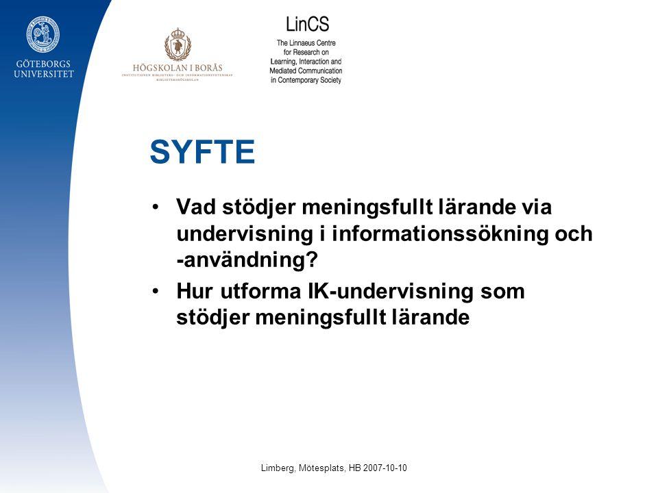 Limberg, Mötesplats, HB 2007-10-10