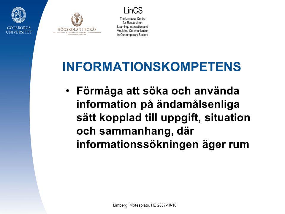 INFORMATIONSKOMPETENS
