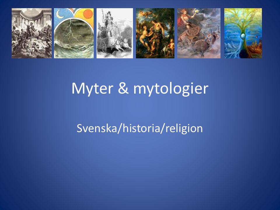 Svenska/historia/religion