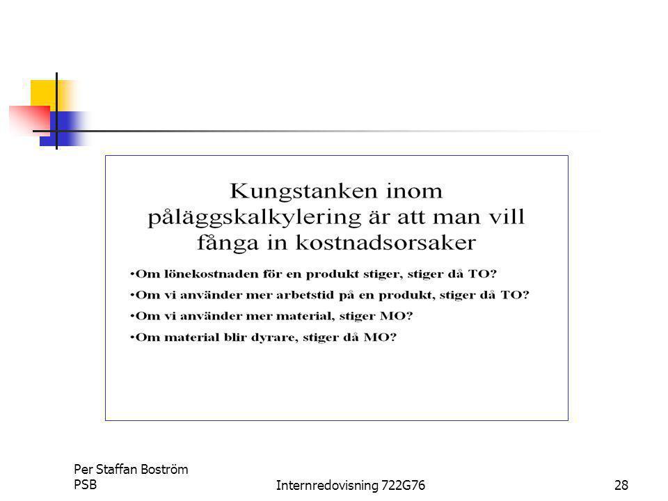 Per Staffan Boström PSB