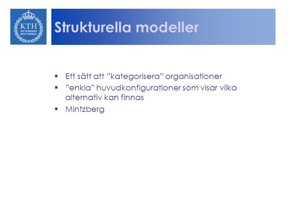 Strukturella modeller