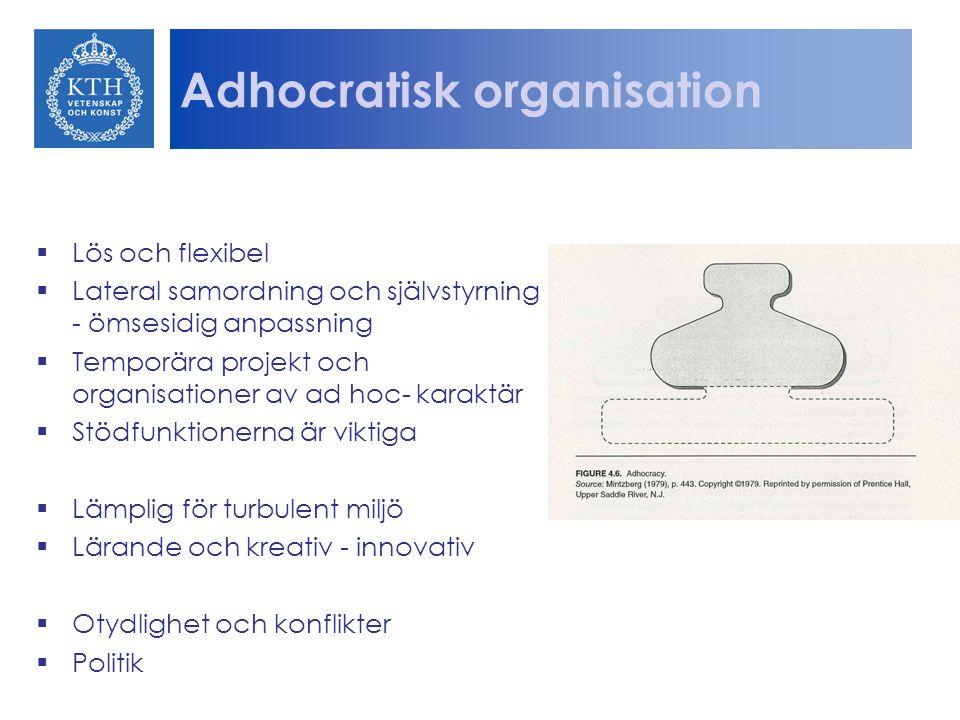 Adhocratisk organisation
