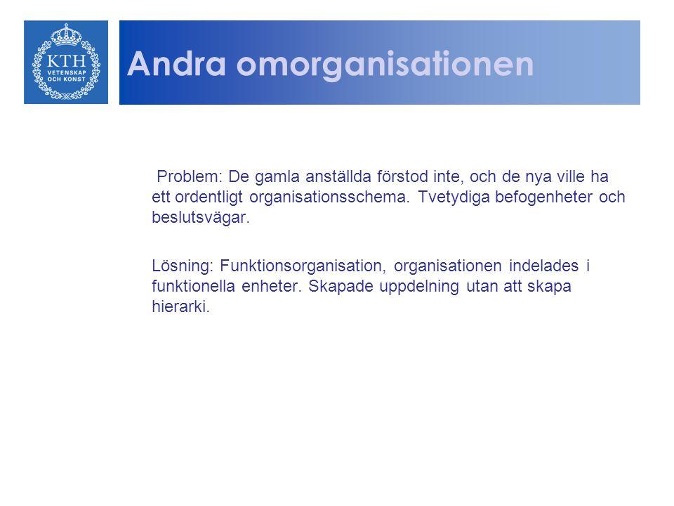 Andra omorganisationen