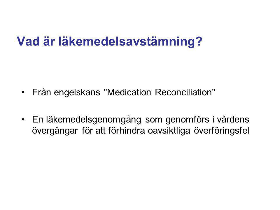 Vad är läkemedelsavstämning