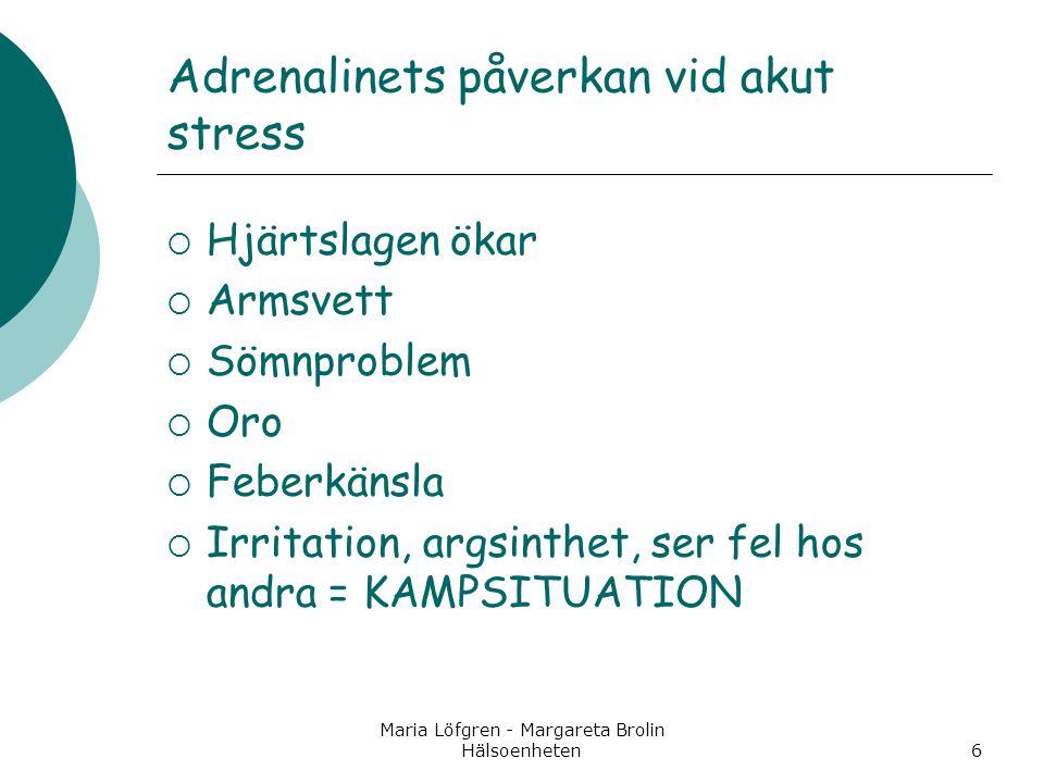 Adrenalinets påverkan vid akut stress