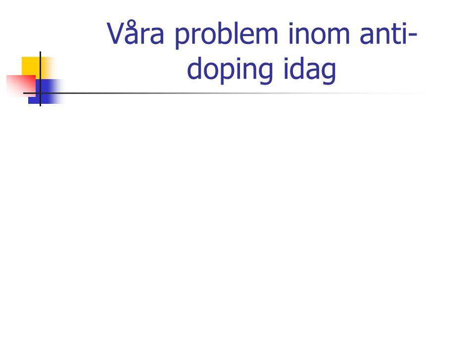 Våra problem inom anti-doping idag