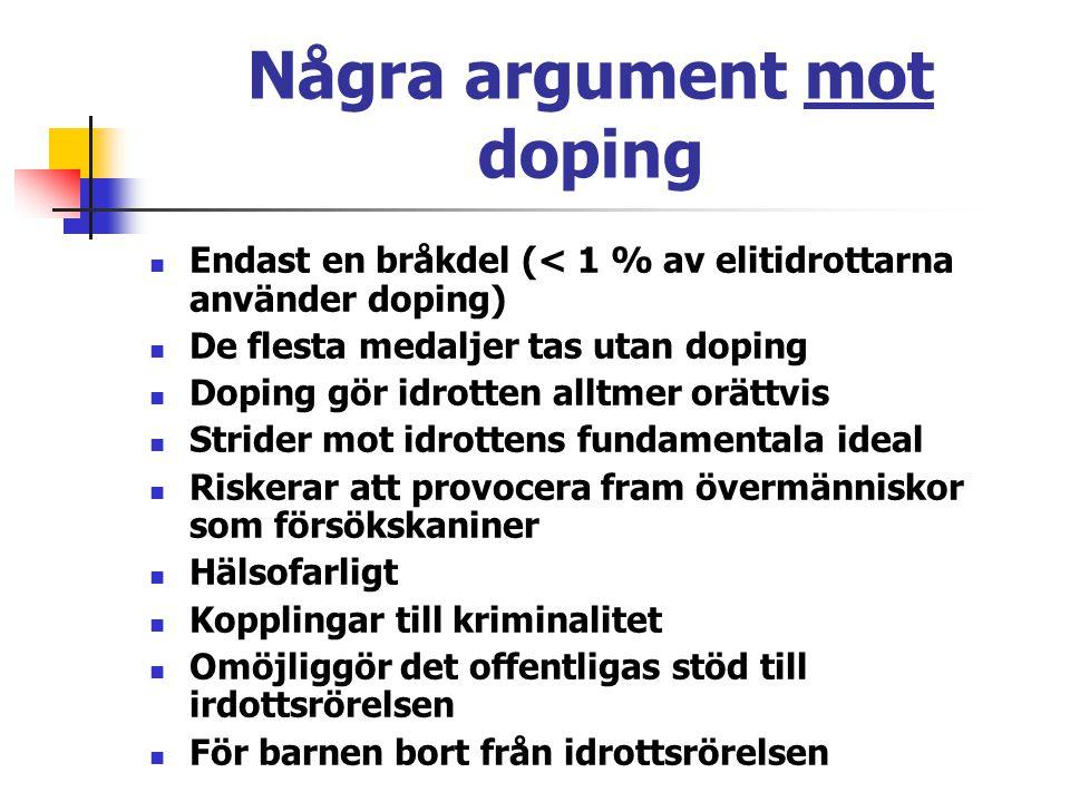 Några argument mot doping