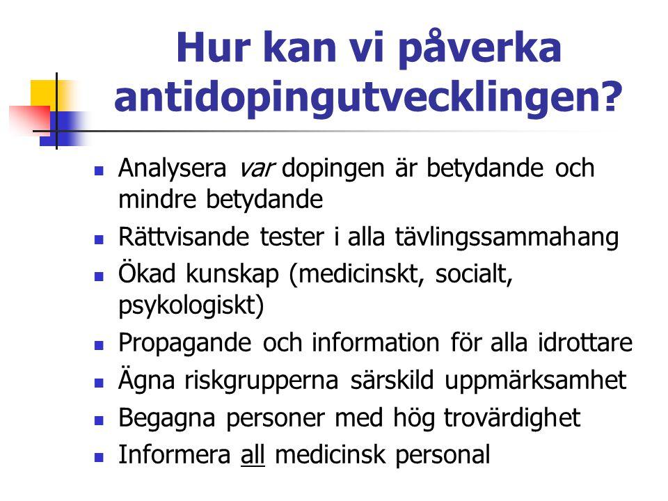Hur kan vi påverka antidopingutvecklingen
