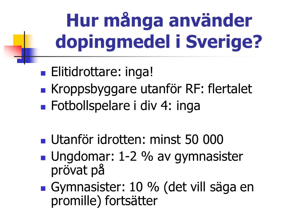 Hur många använder dopingmedel i Sverige