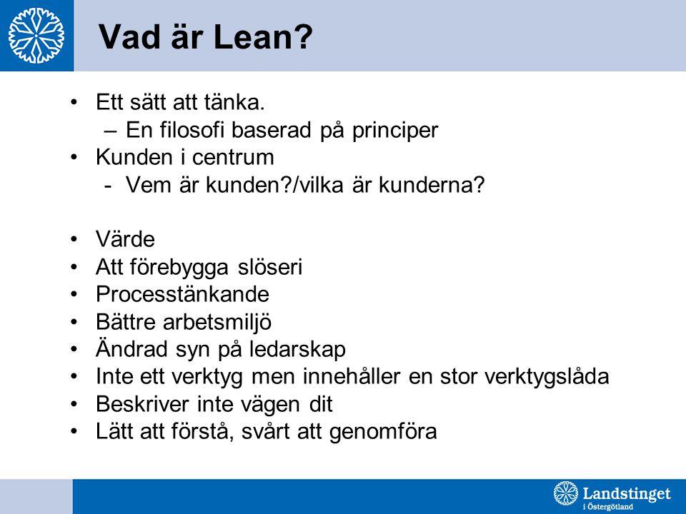 Vad är Lean Ett sätt att tänka. En filosofi baserad på principer