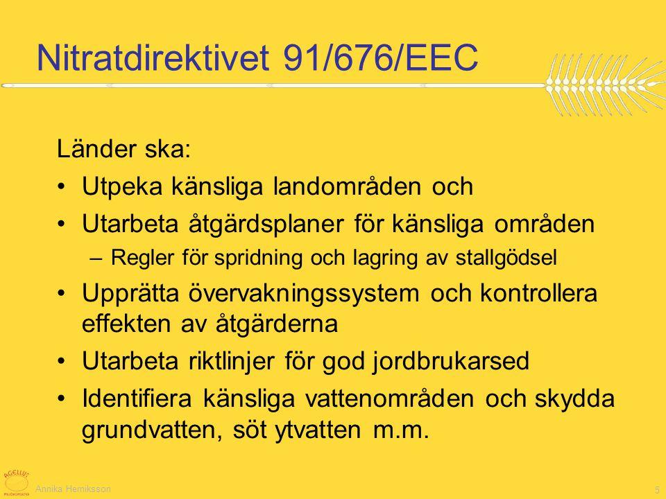 Nitratdirektivet 91/676/EEC