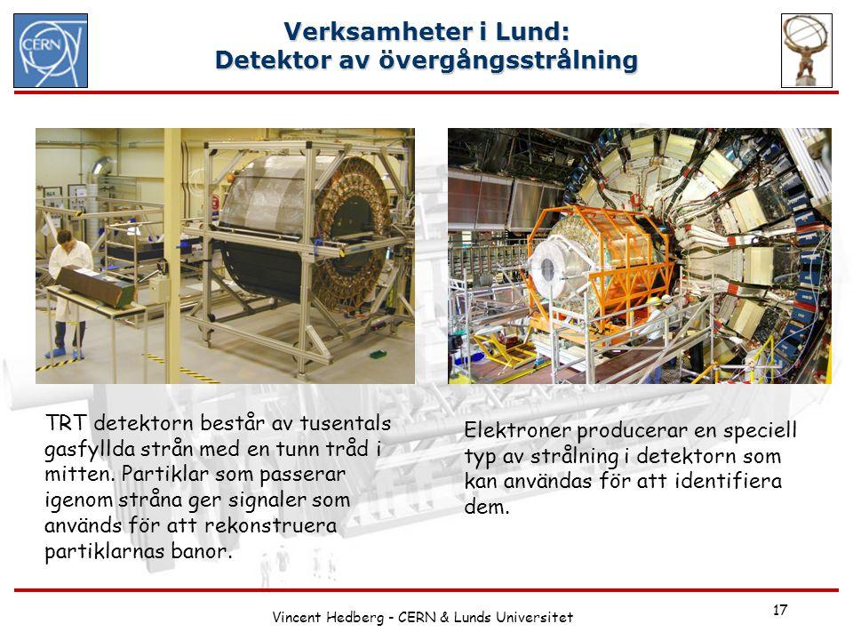 Verksamheter i Lund: Detektor av övergångsstrålning